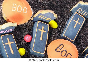 Handmade Halloween cookies and sweets