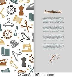 Handmade, handcraft, sewing banner design