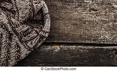 Handmade knitted wool scar