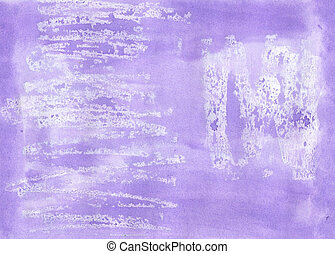 Handmade lilac aguacolour background for scrapbooking and other