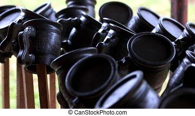 handmade, mugs., drewniany