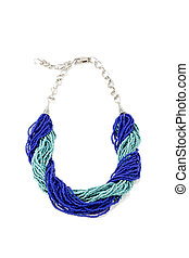 Handmade necklace from a small beads