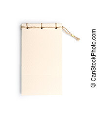 handmade notebook isolated on white background