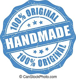 Handmade original product on white background