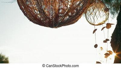 Handmade outdoor decoration - Handmade ball-shaped...