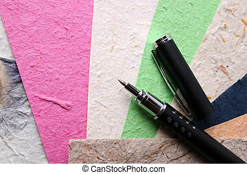 Handmade Paper and Pen