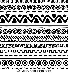 Handmade pattern with ethnic geometric ornament for your ...