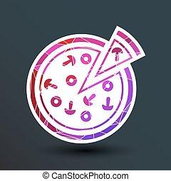handmade pizza illustration logo concept vector food