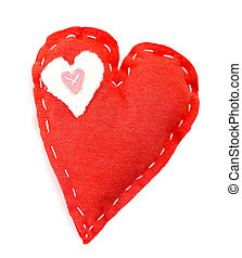 Handmade red heart