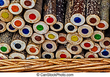 Handmade rustic colored pencils 1
