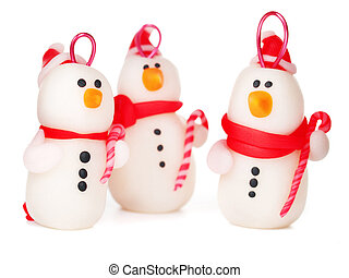 Handmade snowmen, christmas decoration