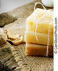 Handmade Soap Border. Spa Products