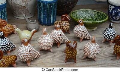handmade souvenir cup - Various handmade clay crafts...