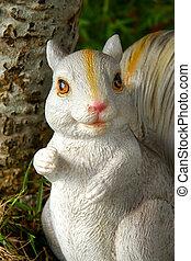 Handmade Squirrel in the garden.