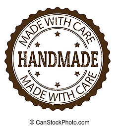 Handmade stamp - Handmade grunge rubber stamp, vector...