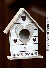 Handmade the wooden house for birds