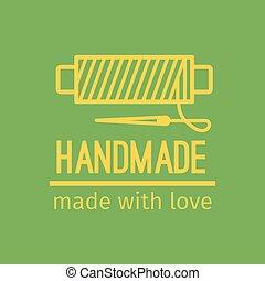 Handmade thin line icon