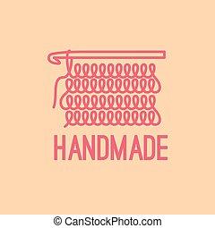 Handmade thin line logo design
