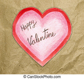 handmade valentine card with heart