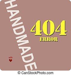 Handmade with a 404 error