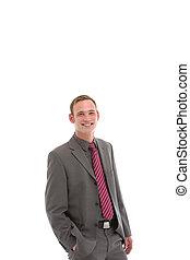 Handome smiling businessman