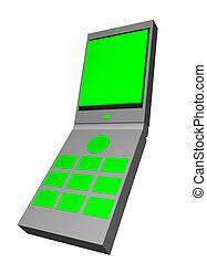 handphone, arte, telecomunicações, clip