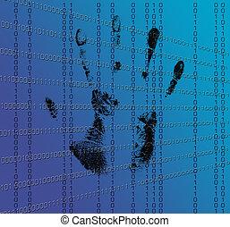 handprint, dna