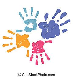 handprint, famille