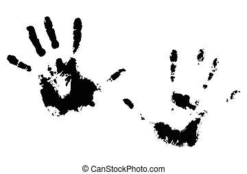 Handprint hands black