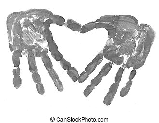 HandPrint in the form of heart
