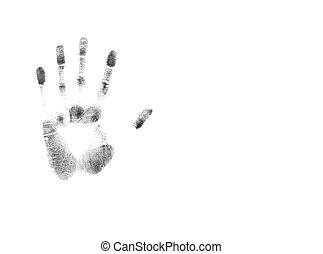 Handprint - Print Series - Illustrations depicting various...