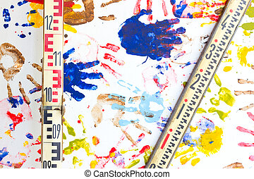 handprints , multicolor