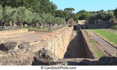 Handrian's Villa, Rome, archeological site of Antinoeion