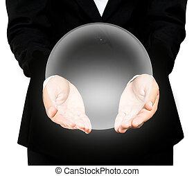 (hands), 水晶, 球, 藏品, 手