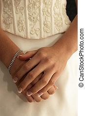 hands #10 - Hands on dress