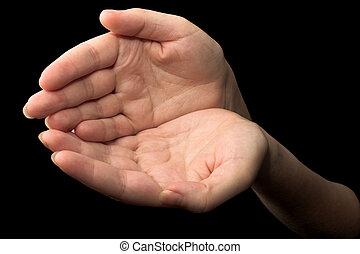 Hands #16 - hands - black background