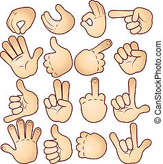 Vector Human Hands collection
