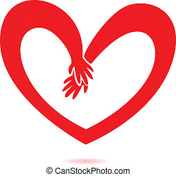 Hands and heart love