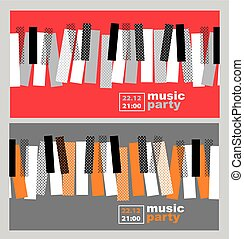 hands and piano keys vector illustration. modern concept...