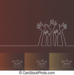 hands., beklæde, illustration, enkel