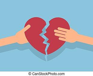 Hands Breaking Apart Heart
