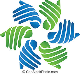 Hands business company logo vector - Hands business company...