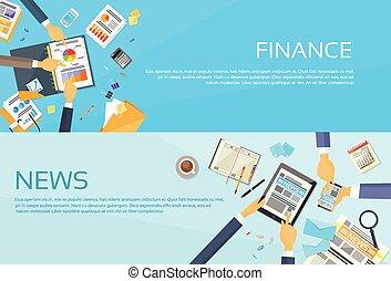 Hands Business Graph Charts Diagram, Businessmen Finance Document