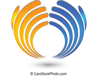 Hands business logo - Hands business icon vector...