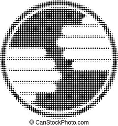 Hands Circle Halftone Dotted Icon