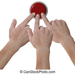 Hands click fingers push button icon - Three hand fingers...