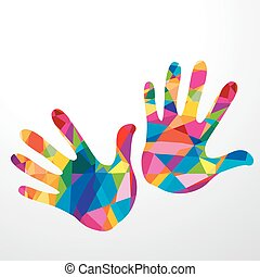 hands colorful illustration