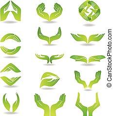 Hands design element