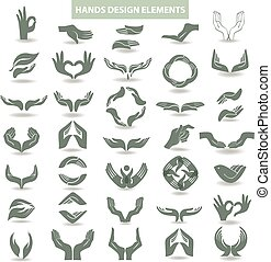 Hands design element