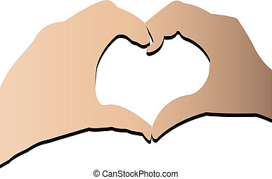 hands doing a heart stock logo vector